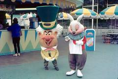 The Mad Hatter and The White Rabbit, 1962 (Tom Simpson) Tags: disney disneyland vintage vintagedisney vintagedisneyland 1962 1960s aliceinwonderland whiterabbit thewhiterabbit madhatter