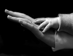 touching (maessive) Tags: bw white black kid hands child hand enzo maessive been1of100bw nicomaessen