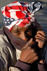 expatriot (stoneth) Tags: poverty sf sanfrancisco california ca street blue red portrait people urban 15fav woman male eye beautiful face closeup female 510fav eyes nikon day d70 nikond70 homeless poor photojournalism forsakenpeople social impoverished 2006 1870mmf3545g human nikkor streetshot sfhayes