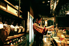 okinawa restaurant@ (* tathei *) Tags: city travel film japan restaurant tokyo natura negative fujifilm dining iso1600 koenji lifeinjapan classica