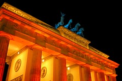 The Brandenburg Gate ([martin]) Tags: light berlin festival night geotagged gate martin brandenburggate brandenburgertor quadriga brandenburg festivaloflights geo:lat=5251612 geo:lon=13378199 martinbiskoping