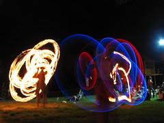 IMG_8772 (larinalou) Tags: light blur night fire slow australia qld shutterspeed firetwirling burleigh