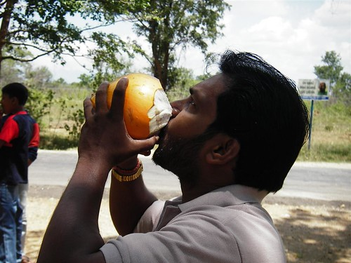 Mervin Shows us how to drink a king coconut by you.