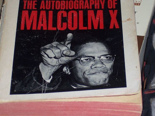 The autobiography of Malcolm X, book cover.