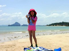 Beach Girl in Krabi, Thailand (_takau99) Tags: ocean 2005 trip travel pink ladies sea vacation portrait woman holiday cute beach water girl smile topv111 topv2222 kids lady female children thailand kid model topv555 topv333 women marine