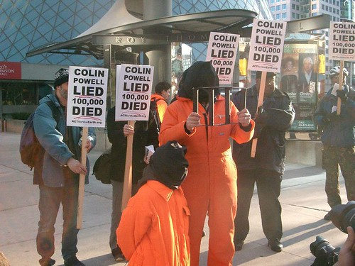 Colin Powell Lied, 100,000 Died - Demonstration Toronto - Wednesday, March 15, 2006 - 059 by photopia / HiMY SYeD.