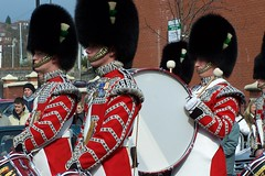 The BIG drum (welshlady) Tags: uk red wales drum band pride medals honour theworldthroughmyeyes welshguards freedomofborough bearskins