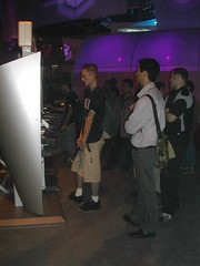 E3 2003 - a very THIN man. (Eleventh Earl) Tags: california food skinny losangeles sony some xbox sandwich eat meal microsoft e3 emaciated playstaion nuintendo