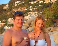 Seth and Lara (RobW_) Tags: family wedding party beach southafrica town seth capetown 2006 lara cape february clifton westerncape feb2006 01feb2006