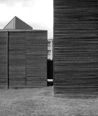 archaeological pavilion, peter zumthor, chur, switzerland, 2003 (altamontstreet) Tags: blackandwhite architecture switzerland chur zumthor graubnden