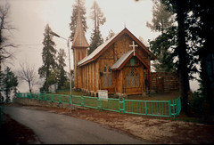 An ol' church in Nathia Gali (Kaafoor) Tags: trip travel blue pakistan summer vacation lake holiday mountains cold nature beauty misty fog clouds haze natural cloudy north foggy visit best valley pakistani vacations nwfp gali murree adeel distortions iloveit nathiagali nathia northernarea theworldsbest greaan pakistaniphotographer karachite ilovetraveling ihavebeentothisplace