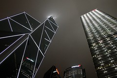 Night Skyscrapers (China Chas) Tags: light hk tower architecture night facade buildings hongkong skyscrapers 2006 fv5 fv10 impei 1600asa bankofchina arup cesarpelli cheungkongcentre hutchisonwhampoa leslierobertson