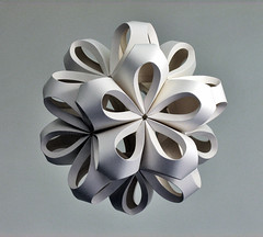 Icosahedron (Richard Sweeney) Tags: sculpture art nature paper paperart origami blossom fineart craft modular repetition folded organic paperfolding structural papercraft naturalform papersculpture artsculpture paperstructure  richardsweeney