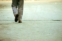 Walking to nowhere (GnoKy) Tags: street cidade people urban strada alone legs walk persone estrada urbano passeio pastrugni gnoky