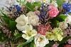 pink bouquet wedding photo