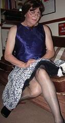 home alone (Karen Julia) Tags: stockings pretty tx tgirl transgender tranny upskirt slip undies petticoat tg ukangels petticoats angelflickr