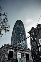 Torre Agbar (andrague) Tags: barcelona architecture skyscraper spain torre highrise agbar andrague
