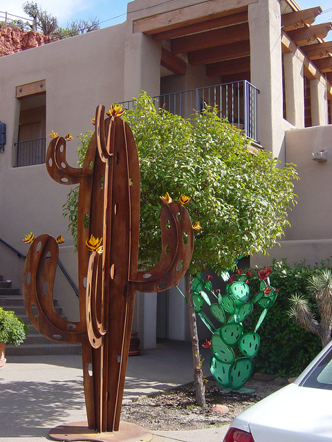 cactus sculpture in Sedona