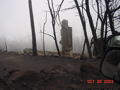 after the cedar fire - chimney is all that remains - dsc00096