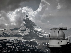 Matterhorn 4478 m / Astronomical Observatory Gornergrat (North Face) Tags: sky cloud mountain snow mountains alps nature clouds canon geotagged schweiz switzerland interestingness topv333 suisse swiss powershot observatory alpine gornergrat matterhorn wallis valais astronomical s45 topvaa interestingness23 25faves spectacularswiss nface impressedbeauty superaplus aplusphoto diamondclassphotographer flickrdiamond geo:lat=45968943 geo:lon=7651054