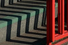 Shadow pattern (Mark Rutter) Tags: shadow red abstract detail green all pattern shadows graphic rich steps step f5 zigzag i20 i120 graphich markrutter