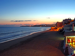 Warm Nights (MigMimo) Tags: sunset beach portugal algarve armaodepra