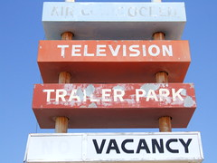 Trailer Park (Curtis Gregory Perry) Tags: california park ca old light arizona signs classic abandoned luz glass television sign night vintage licht colorful neon glow bright antique lumire tube tubes az ne retro signage vehicle glowing trailer rv trailerpark dying vacancy luce muestra important signe sinal neons  zeichen goldenstate recreational non segno   recreationalvehicle   teken  vidaljunction    glowed    neonic