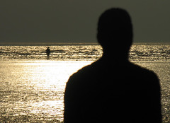 Focus on the horizon ... (The Renaissance) Tags: liverpool mersey crosby antonygormley anotherplace gapc
