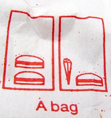 A bag (Vaguely Artistic) Tags: bag fries hamburger msh instructionaldrawing msh0107 msh01071