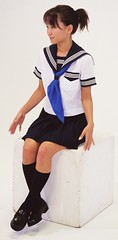 Junko Fukuda uniform for school (shiroibasketshoes hopper) Tags: school cute japan uniform pretty actress seifuku junkofukuda