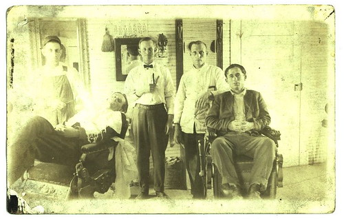 Leverett Waters, the Barber (second from right)