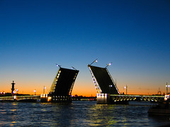 A white night in St. Petersburg (Giuseppe Bognanni) Tags: bridge blue sunset stpetersburg artistic russia neva whitenight novideo bognanni disc0stu giuseppebognanni