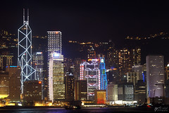 Bank of China (Steve Webel) Tags: urban skyline night hongkong lights asia cityscape minolta  hsbc bankofchina maxxum5d dynax5d webel aigtower