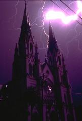 The Wrath of God (jetrotz) Tags: longexposure film church nature wow geotagged catholic purple cathedral screensaver photojournalism savannah lightning portfolio savannahgeorgia stjohnthebaptist abigfave geo:lat=32073502 geo:lon=81091703