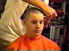 5378 (haircutsz) Tags: haircut hair buzz long cut guard falling crew forced clipper butch nape