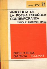 Enrique Moreno Baez, Antología de la Poesía contemporánea