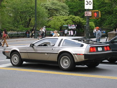 Roads? Where were going we dont need roads... (dM.nyc) Tags: nyc newyorkcity car nycpb topv111 manhattan upperwestside vehicle delorean carsofnyc img3035jpg delauren nyca2z
