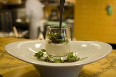 Amuse: White Asparagus Custard (ulterior epicure) Tags: white bar asparagus micro custard tasting burgundian elliot truffle graham escargot herb bowles palate chefs avenues