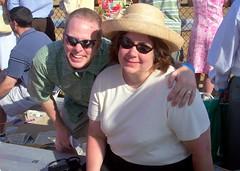 KY Oaks 2006 - Paul and Jenn in the Sun (paulsisler) Tags: paul jennifer churchilldowns louisvilleky oaksday kyoaks