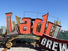 Lady (Curtis Gregory Perry) Tags: old las vegas light signs gambling classic luz glass sign lady night vintage advertising licht neon glow bright lasvegas lumire nevada tube tubes casino ne retro nv luck signage glowing flashing dying brew luce muestra important signe sinal neons  zeichen blinking non segno   silverstate   teken     glowed    neonic