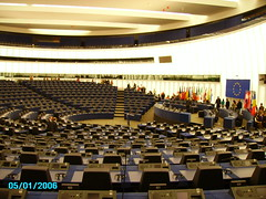 Euro Parliament conference room