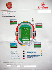 Emirates stadium seating (Dotcode) Tags: football invitation arsenal infographic emiratesstadium seasonticket