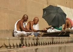 Varanasi, India, the Holy river Ganges/Ganga (dirk huijssoon) Tags: city portrait people india person peace riverside faith religion holy sacred varanasi gods persons spiritual hindu ganga ganges benares varinasi riverganges holyriver religiouscapitol