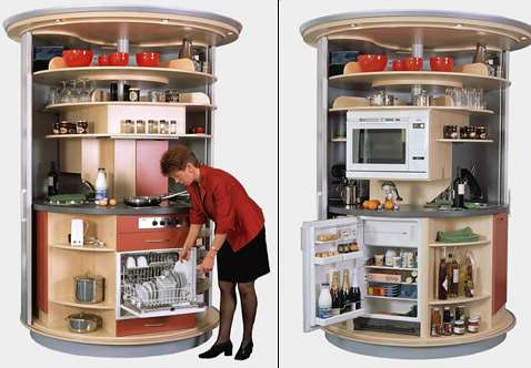Si tienes invitados en casa y la cocina es un desastre girala y no se verá nada
