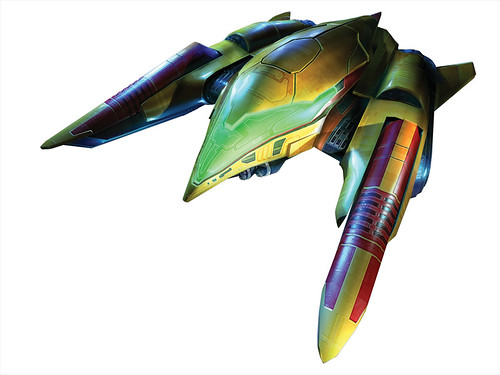 Samus Aran's Ship in MP3: Corruption