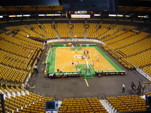 Hardwood sports floors basketball court Boston Garden