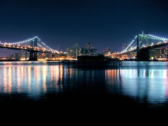 anyone up for bridge? (nj dodge) Tags: nyc longexposure bridge sky topf25 water brooklyn night lights donna topf50 topf75 500v20f manhattan lowereastside listeningto bridges brooklynbridge manhattanbridge eastriver topf100 1500v60f 1000v40f emmylouharriswreckingball airportsleeper nikonstunninggallery shutterswereclicking somelouderthanothers 3000v120f