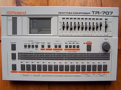 Roland TR-707 Drum Machine (hespelerbob) Tags: drum machine roland electronic tr707