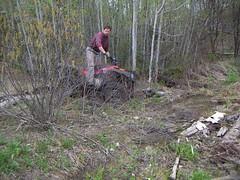5-13-06 Four Wheeling (3) (jenpilot) Tags: trees woods atv 4wheeling fourwheeling artie