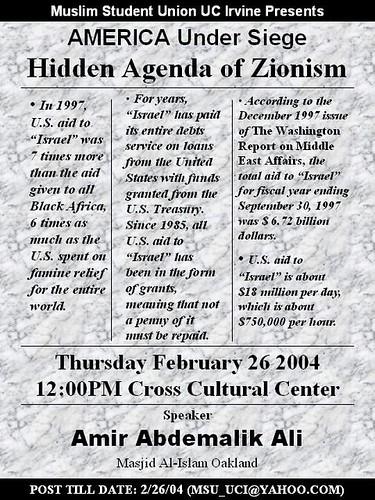20040226 America Under Siege - Hidden Agenda of Zionism - Amir Abdel Malik Ali - zionism2004